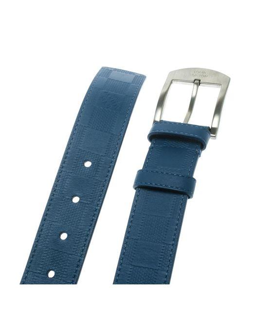 693d580ced5a ... Louis Vuitton - Blue Damier Embossed Leather Infini Detroit Belt - Lyst  ...
