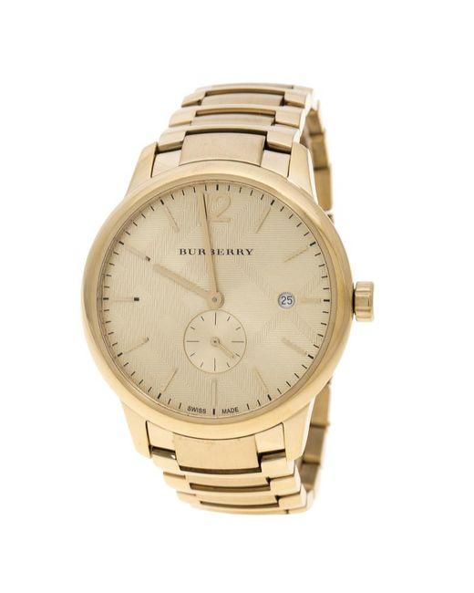 Burberry - Metallic Plated Steel Bu10006 The Classic Round Mantel Women's Wristwatch 40 Mm - Lyst