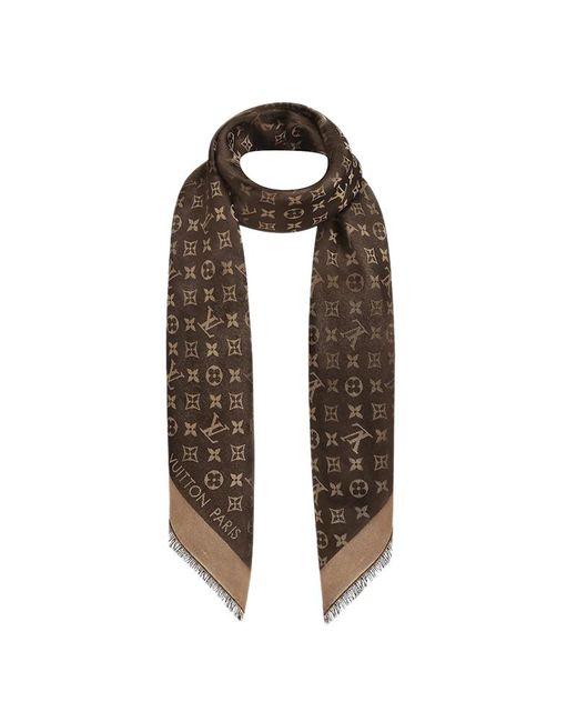 480121c44b2 ... Louis Vuitton - Brown Monogram Shine Shawl - Lyst ...