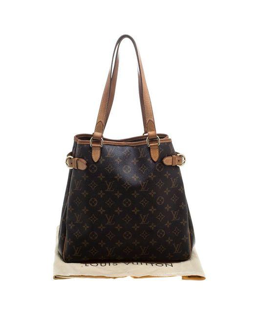 d28502029e48 ... Louis Vuitton - Brown Monogram Canvas Batignolles Vertical Bag - Lyst  ...