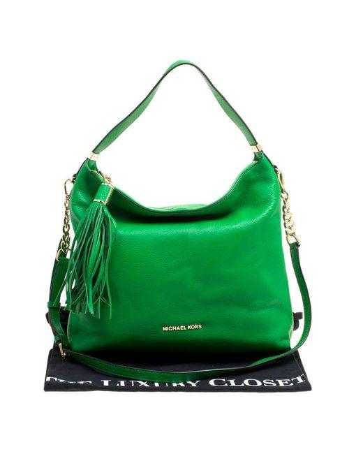 2c2a46cabf ... MICHAEL Michael Kors - Green Leather Medium Weston Shoulder Bag - Lyst  ...
