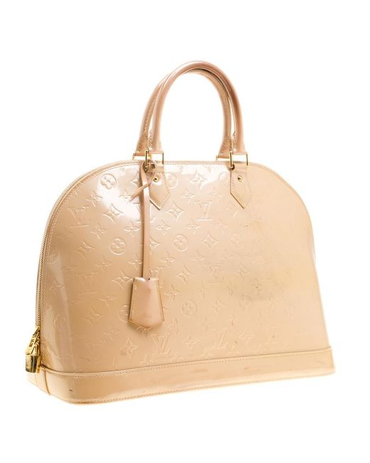 dd0833804c9d ... Louis Vuitton - Natural Rose Florentine Monogram Vernis Alma Gm Bag -  Lyst ...