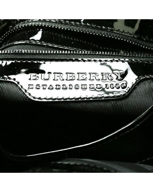 f16239c0c7 ... Burberry - Black Quilted Patent Leather Studded Lowry Tote - Lyst ...