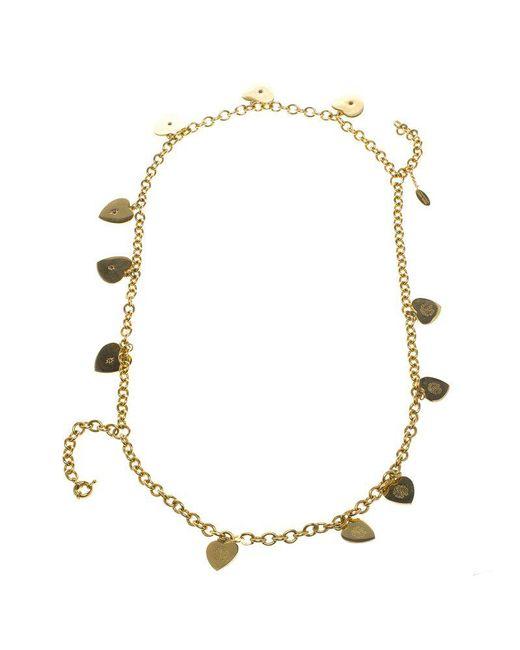 Just Cavalli - Metallic Roberto Cavalli Heart Multichain Tone Necklace - Lyst