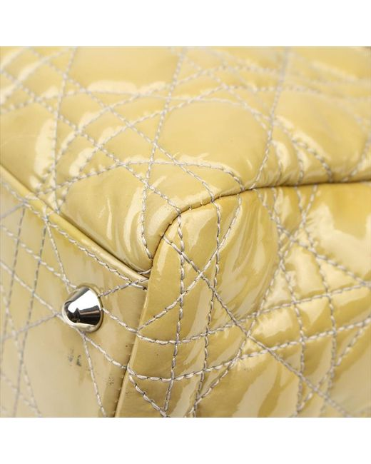 85b5ccaa0ed2 ... Dior - Natural Cannage Quilted Patent Leather Small Soft Tote - Lyst ...