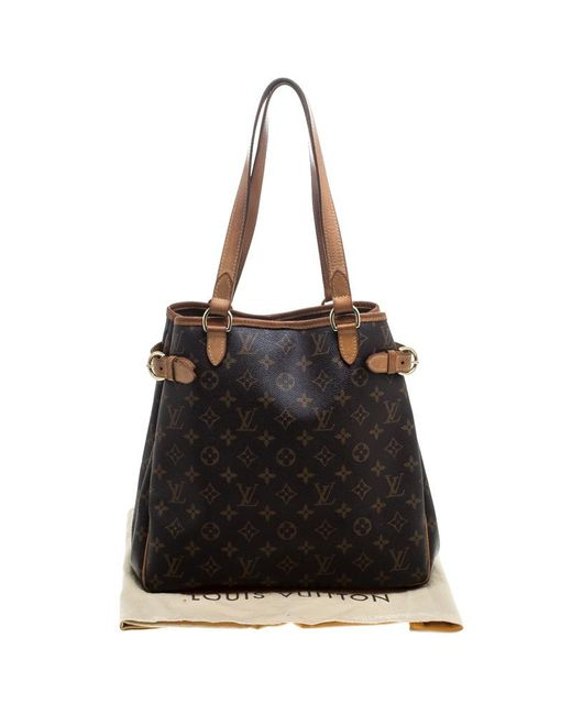 4a71aabc3753 ... Louis Vuitton - Brown Monogram Canvas Batignolles Vertical Bag - Lyst  ...