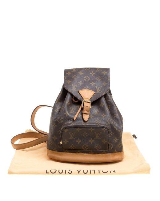 cd936629f94e5 ... Louis Vuitton - Brown Monogram Canvas Montsouris Mm Backpack Bag - Lyst  ...