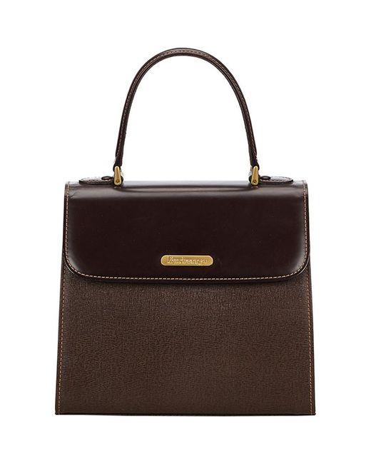 Burberry - Brown Dark Leather Top Handle Bag - Lyst