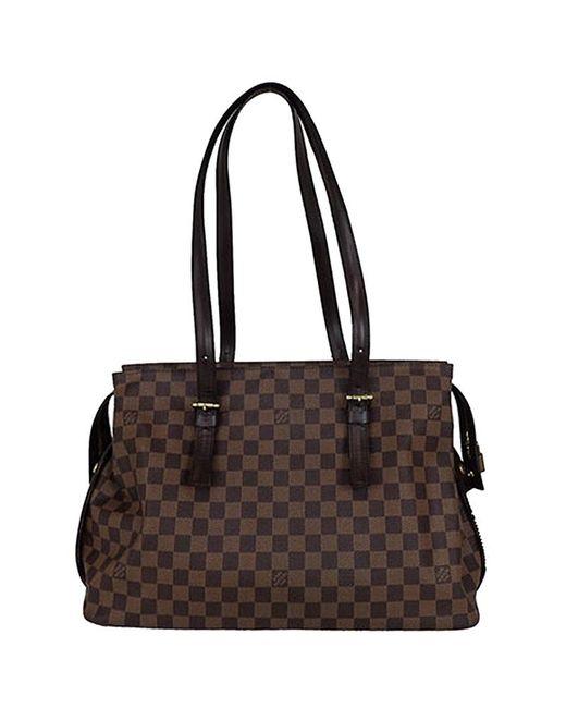 e158e0e77d5c Louis Vuitton - Brown Damier Ebene Canvas Chelsea Bag - Lyst ...