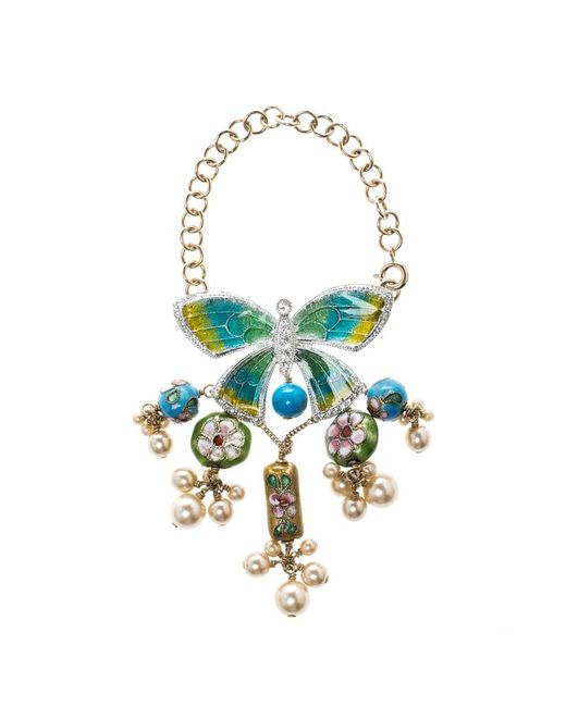 Dior - Multicolor Asian Inspired Butterfly Flower Embellished Tassel Bracelet - Lyst