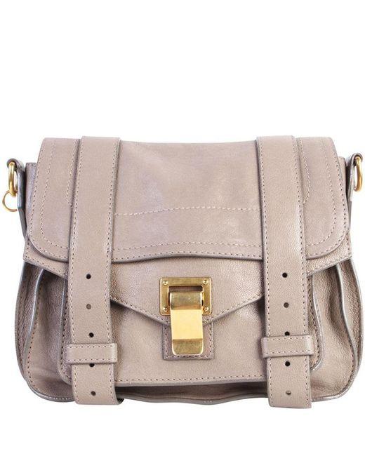 Proenza Schouler Gray Grey Leather Mini Ps1 Crossbody Shoulder Bag