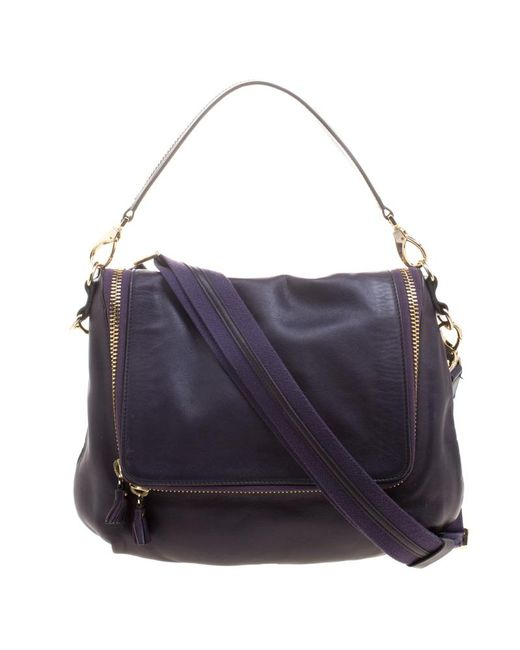 Anya Hindmarch - Purple Leather Maxi Vere Satchel - Lyst