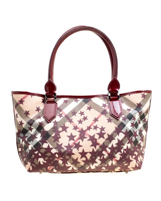 ... Burberry - Multicolor  beige Nova Check Canvas And Leather Nickie Stars  Tote - Lyst ... 5b37b639cf