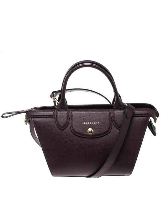 Longchamp - Multicolor Leather Small Le Pliage Heritage Tote - Lyst
