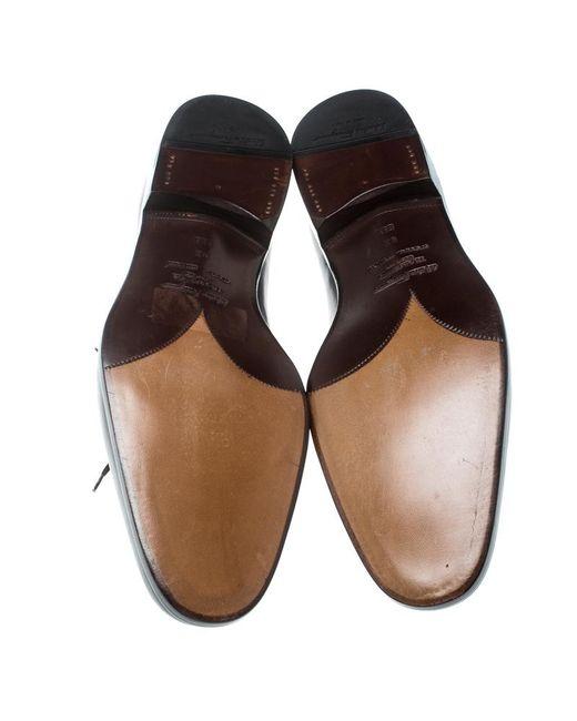 6ef0e9375847 ... Ferragamo - Brown Special Edition Two Tone Brogue Leather Oxfords for  Men - Lyst ...