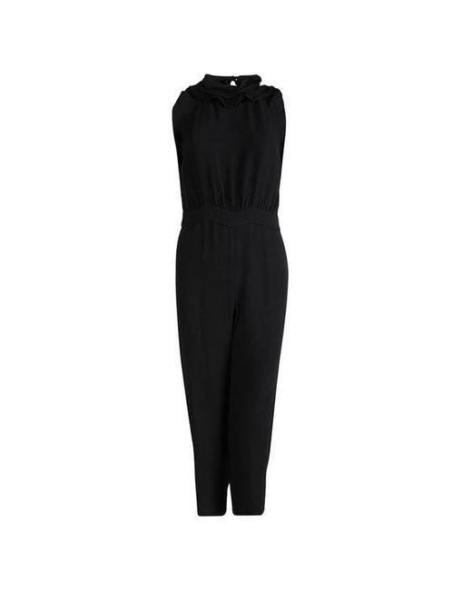 Diane von Furstenberg - Black Ruffle Detail Halterneck Blithe Jumpsuit S - Lyst