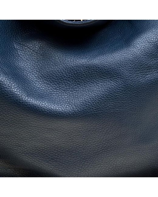 fd77f4909314 ... MICHAEL Michael Kors - Navy Blue Leather Top Handle Bag - Lyst ...