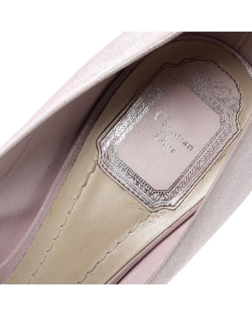 b3d8d85273 ... Dior - Blush Pink Shimmering Suede Pointed Toe Pumps Size 38.5 - Lyst  ...