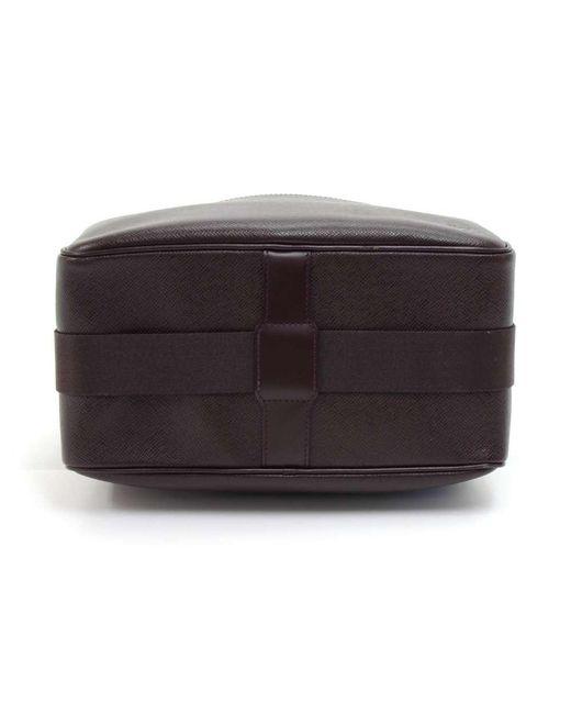 49bdd48b617 ... Louis Vuitton - Black Burgundy Taiga Leather Reporter Pm Bag for Men -  Lyst ...