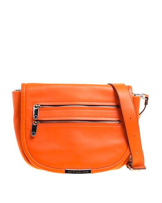 Marc By Marc Jacobs - Orange Leather Large Luna Shoulder Bag - Lyst