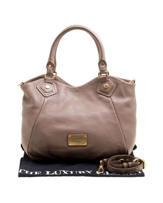 328a81907522 ... Marc By Marc Jacobs - Brown Leather Classic Q Francesca Top Handle Bag  - Lyst ...