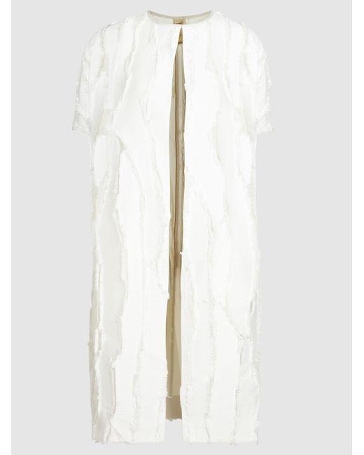 Zero + Maria Cornejo - White Koy Panelled Short-sleeved Jacket - Lyst