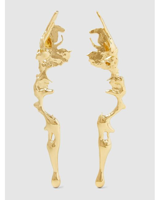 Annelise Michelson | Metallic Gold Plated Lava Earrings | Lyst