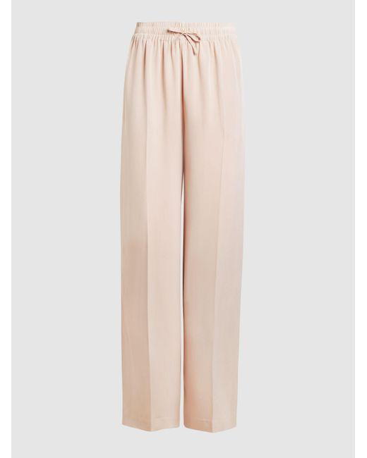 Joseph | Natural Dylan Matte Silk Trousers | Lyst