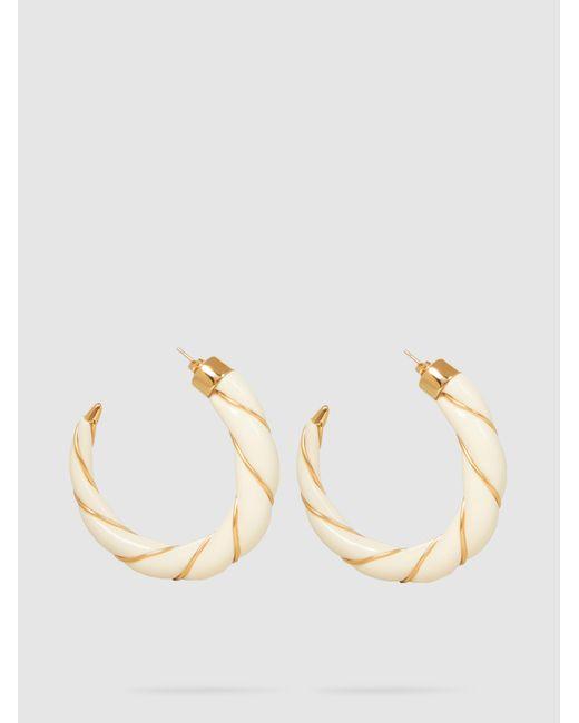Aurelie Bidermann - Metallic Diana Gold-plated Resin Hoop Earrings - Lyst