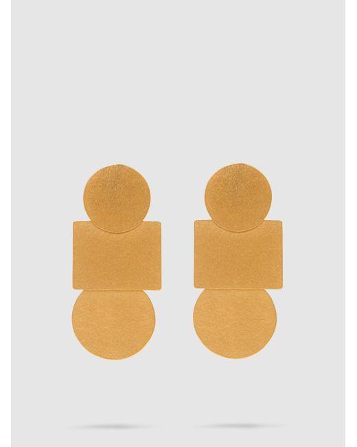 Annie Costello Brown - Metallic Mini Popova Gold-tone Earrings - Lyst