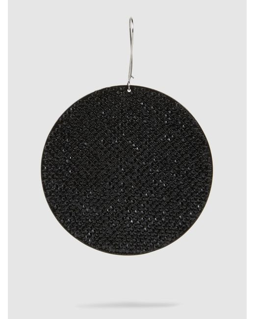 Marc Jacobs - Black Pavé Single Disc Earring - Lyst