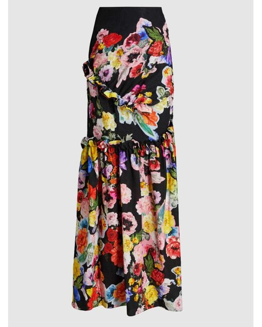 Aurelia Printed Stretch-Velour Gown Preen d7iucCYfJ9