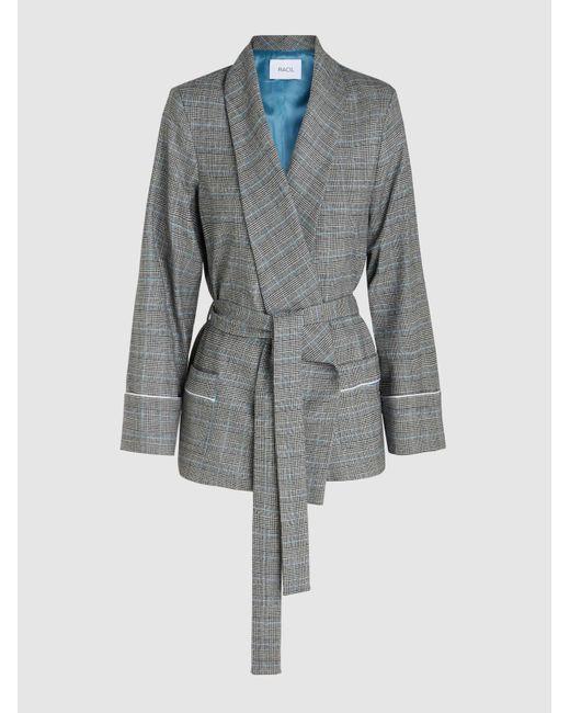 Racil - Gray Prince Of Wales Print Jacket - Lyst