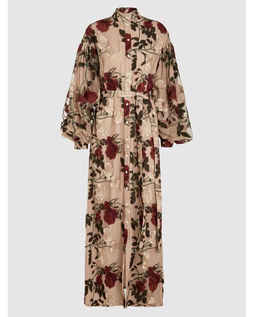 OSMAN - Natural Regency Sleeve Floral Kaftan - Lyst