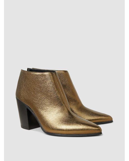 ALUMNAE Textured-Leather Ankle Boots