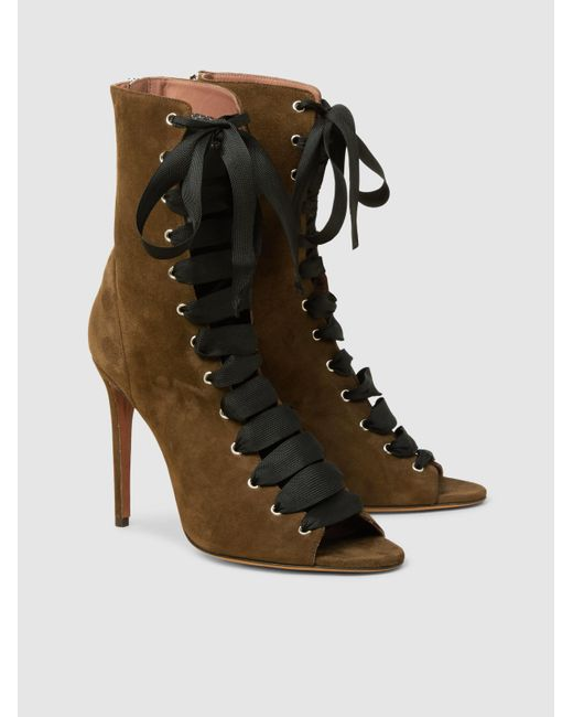 Klara Suede Lace-Up Ankle Boots Tabitha Simmons YZKUExRAj9