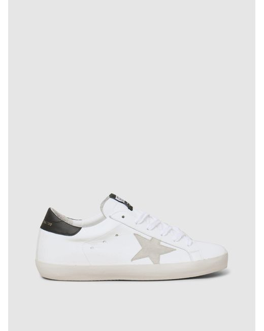 Golden Goose Deluxe Brand - White Superstar Low-top Trainers - Lyst