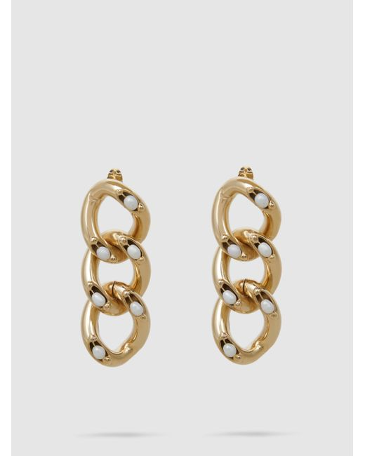 Ingranaggio Pearl-Embellished Gold-Tone Earrings Rosantica 2pdCNekRM