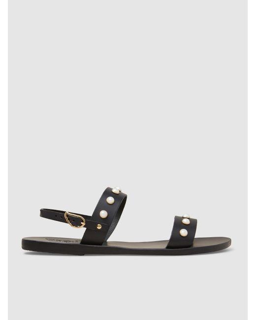 Ancient Greek Sandals | Black Clio Leather Sandals | Lyst