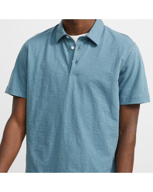 2545e8204 ... Theory - Blue Slub Cotton Polo for Men - Lyst ...