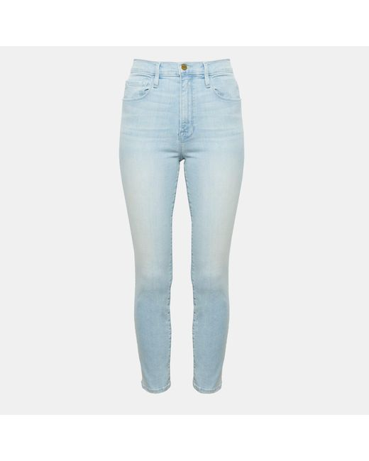 Theory - Blue Frame Ali High Rise Skinny Jeans - Lyst