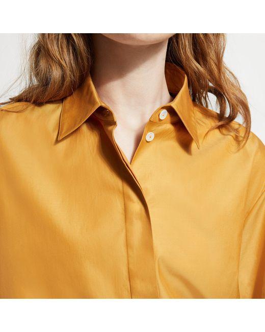 1b2f665942 ... Theory - Orange Cotton Chintz Classic Blazer - Lyst ...
