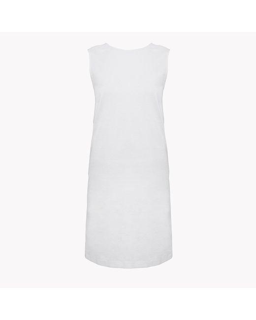 Theory   White Criss-cross Back Shift Dress   Lyst