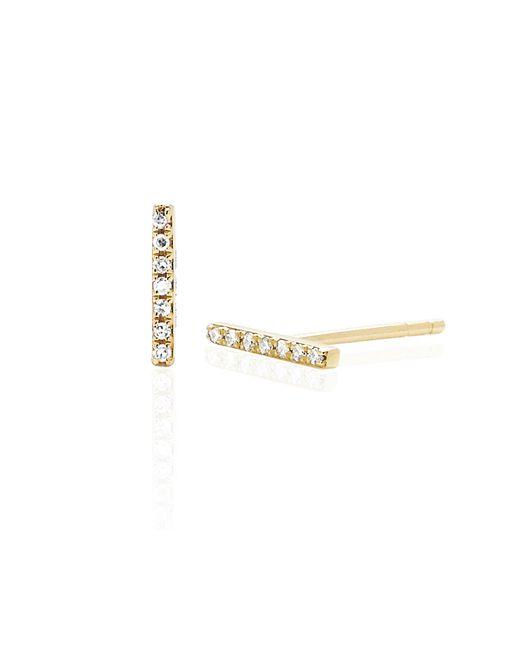 EF Collection bar stud earring - Metallic CGLW3cUIk3
