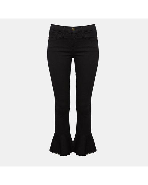 Theory - Black Frame Le Skinny De Jeanne Flounce Jeans - Lyst