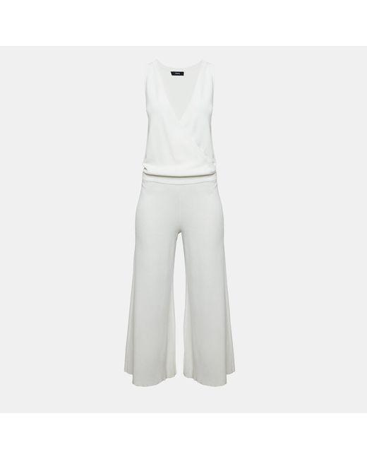 Theory - White Leather Shrunken Jean Jacket - Lyst