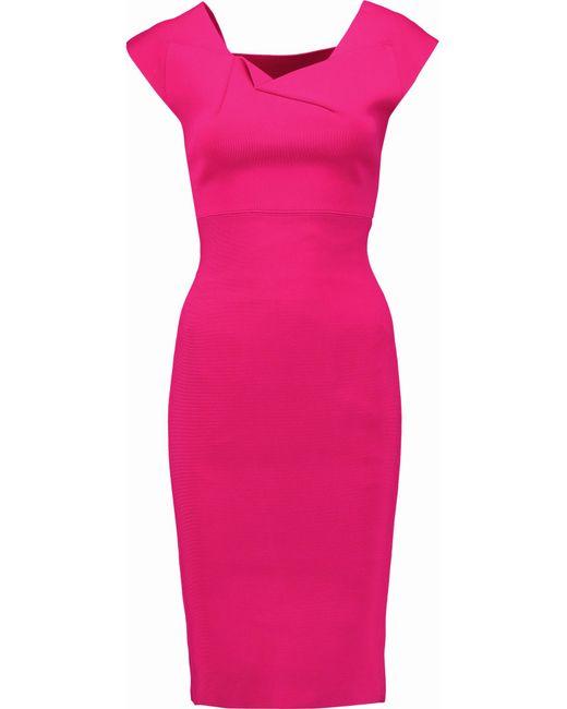 Roland Mouret | Pink Rythe Cutout Stretch-knit Dress | Lyst