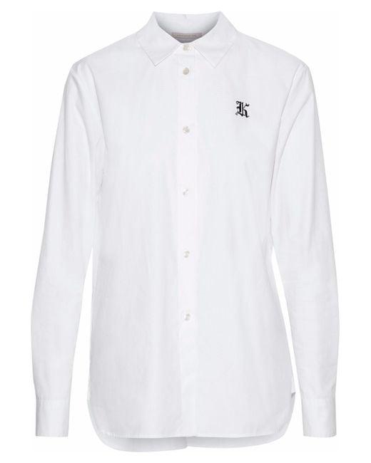 Christopher Kane - White Embroidered Cotton-poplin Shirt - Lyst