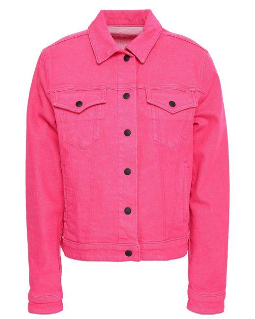 Rag & Bone - Woman Denim Jacket Bright Pink - Lyst