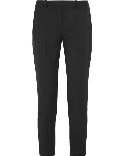Stella McCartney - Black Wool-twill Slim-leg Pants - Lyst